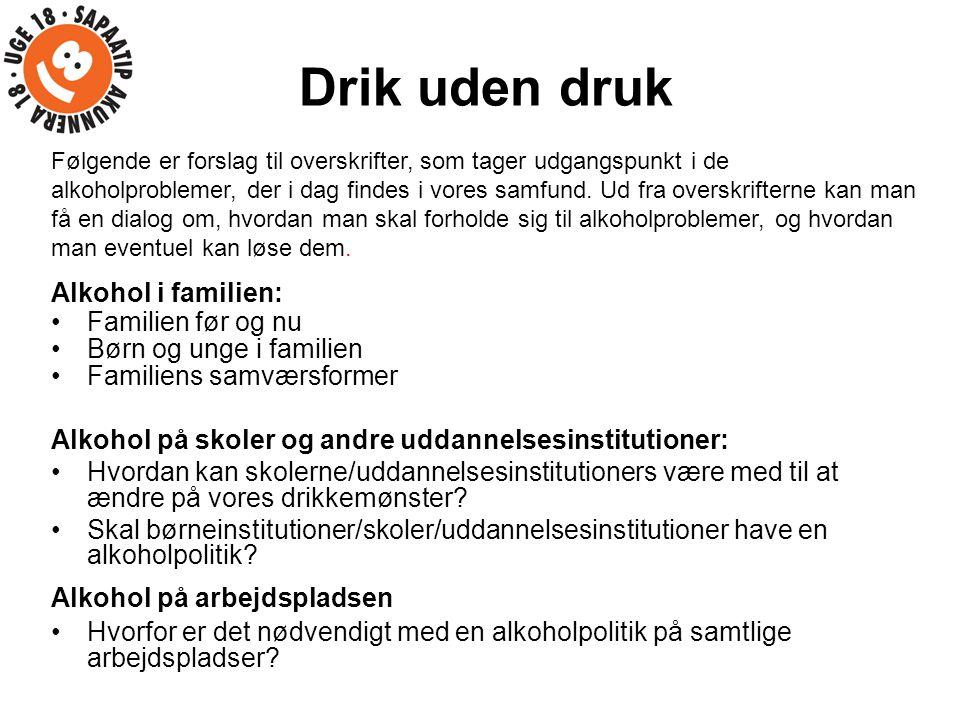 Drik uden druk Alkohol i familien: Familien før og nu