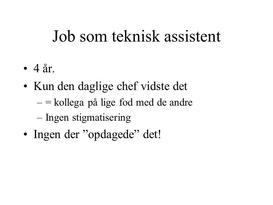 Job som teknisk assistent