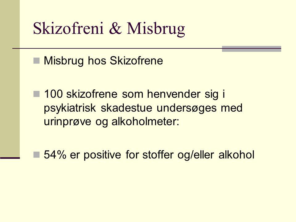 Skizofreni & Misbrug Misbrug hos Skizofrene
