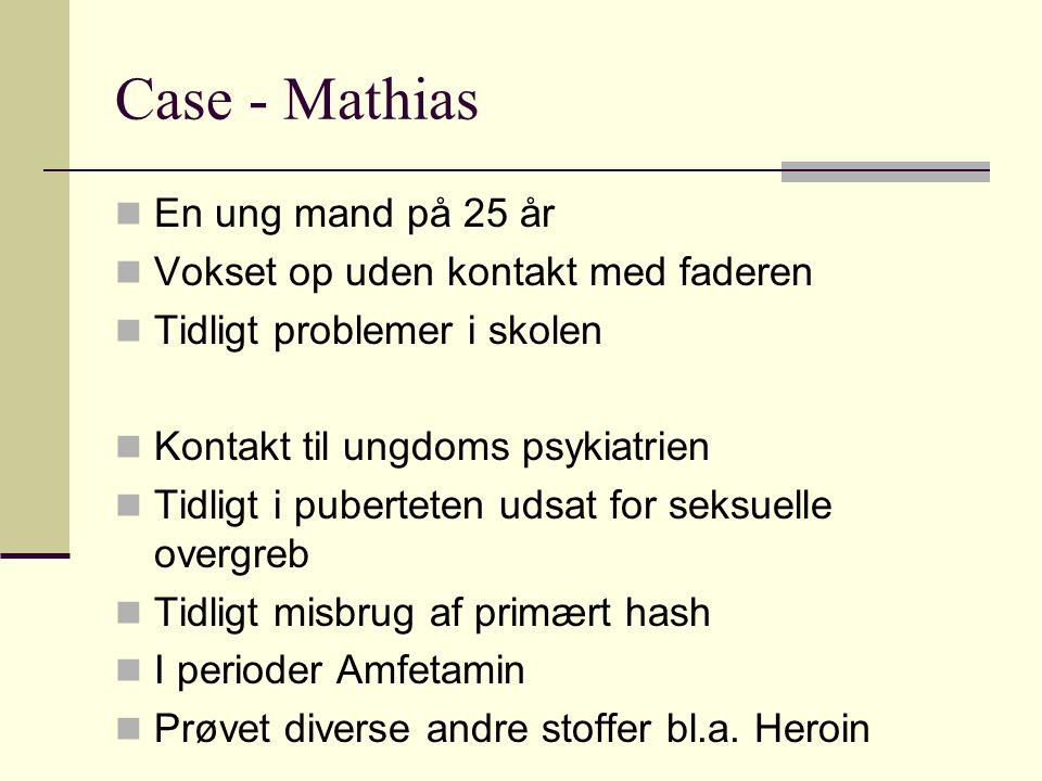 Case - Mathias En ung mand på 25 år Vokset op uden kontakt med faderen