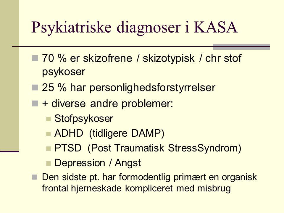 Psykiatriske diagnoser i KASA