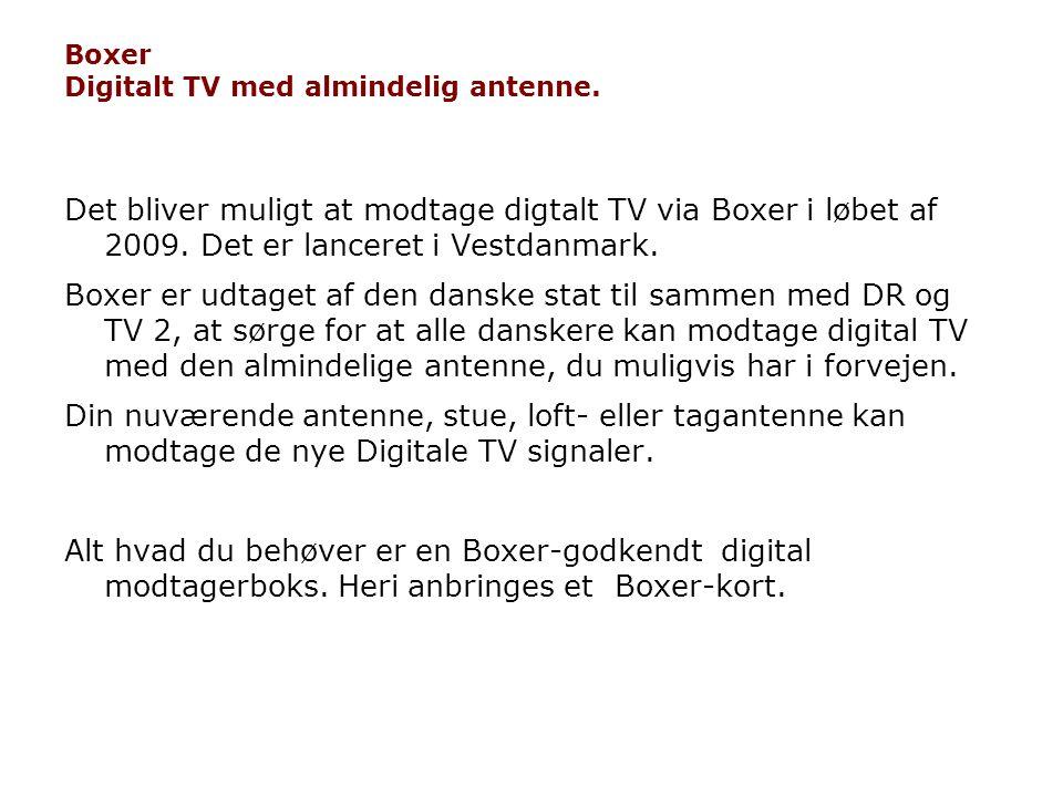 Boxer Digitalt TV med almindelig antenne.