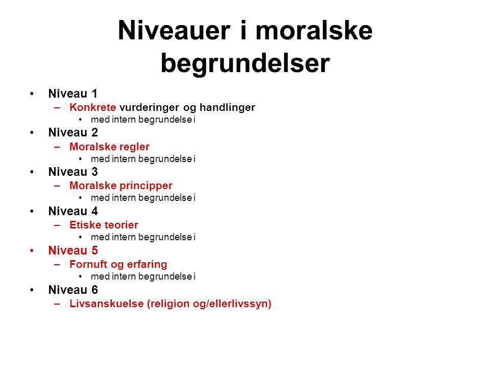 Niveauer i moralske begrundelser