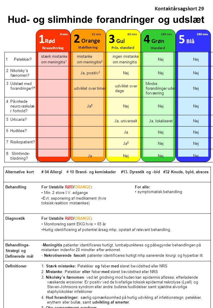 Hud- og slimhinde forandringer og udslæt