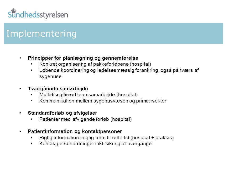 Implementering Principper for planlægning og gennemførelse