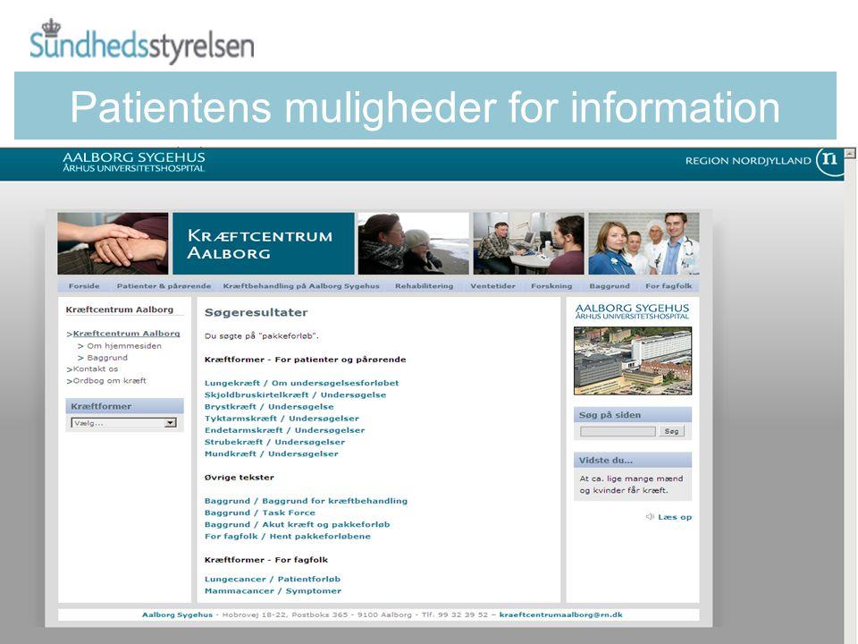 Patientens muligheder for information