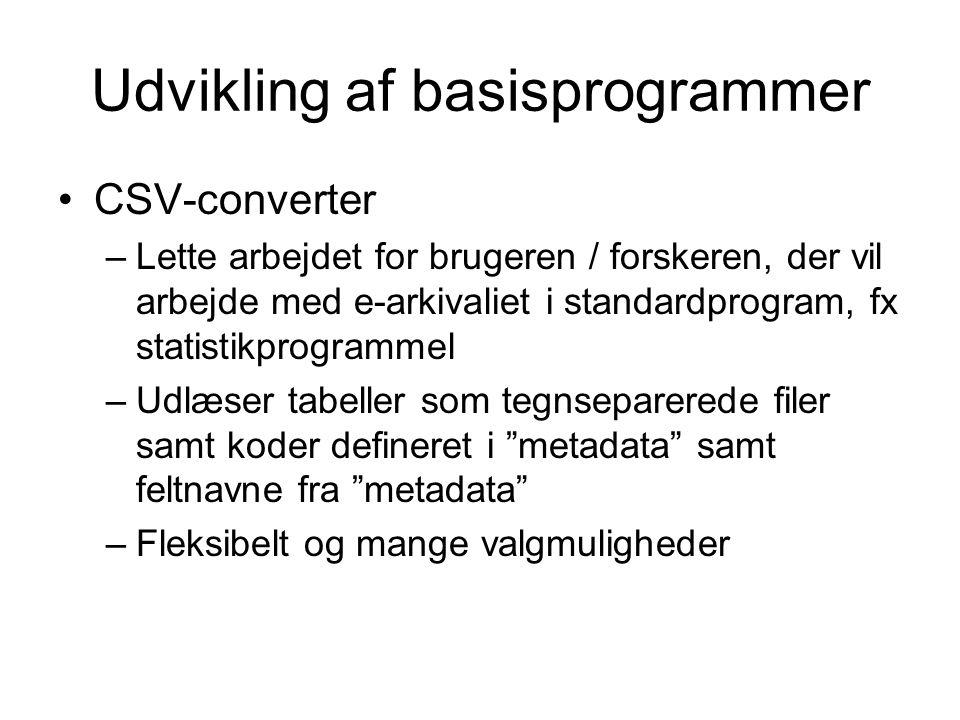 Udvikling af basisprogrammer