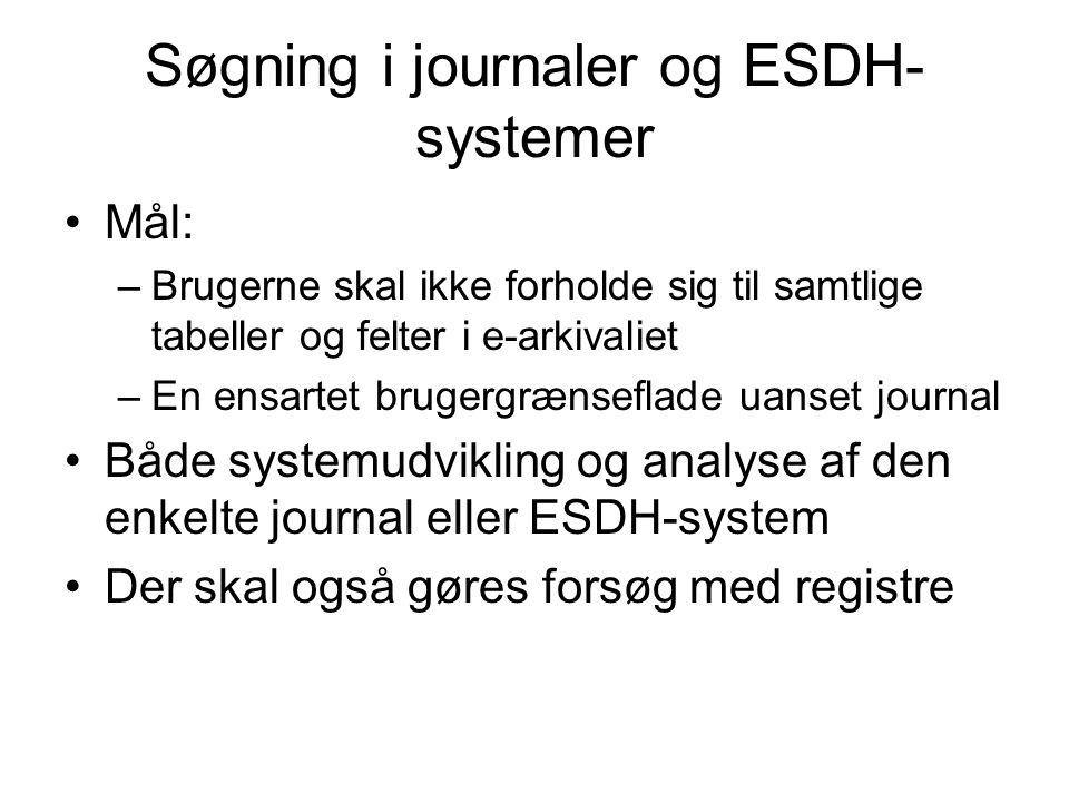Søgning i journaler og ESDH-systemer