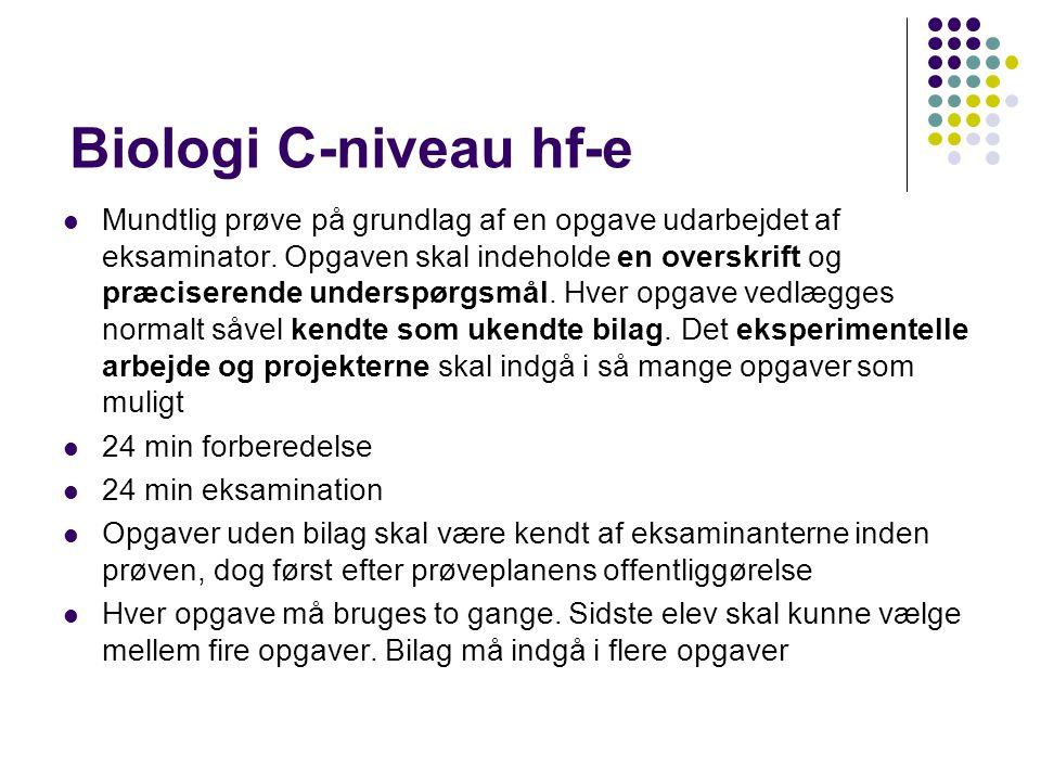 Biologi C-niveau hf-e