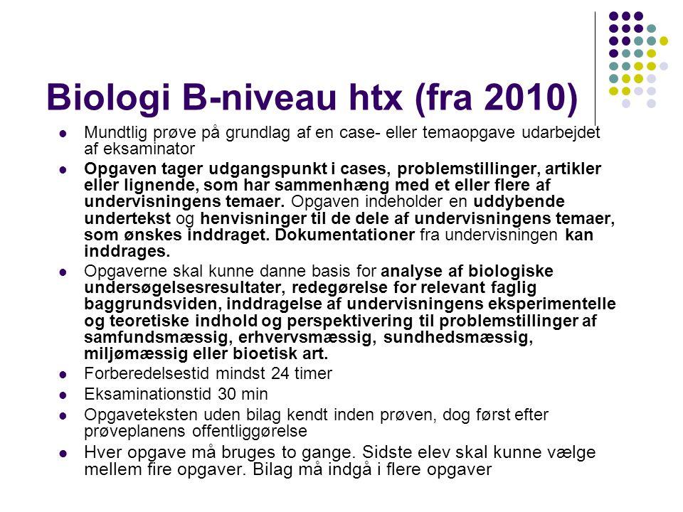 Biologi B-niveau htx (fra 2010)