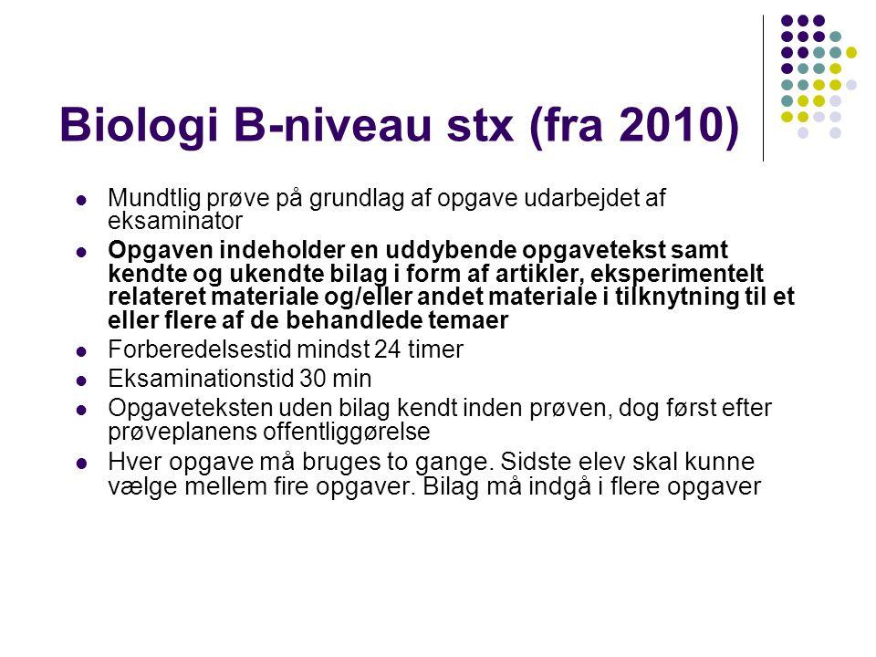 Biologi B-niveau stx (fra 2010)