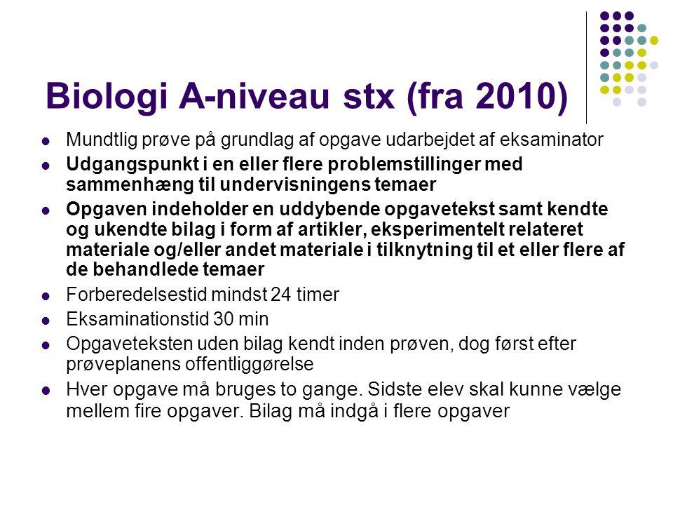 Biologi A-niveau stx (fra 2010)