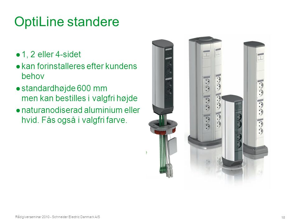 OptiLine standere 1, 2 eller 4-sidet