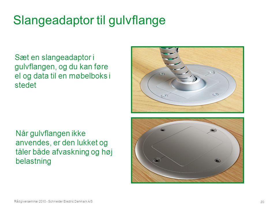 Slangeadaptor til gulvflange