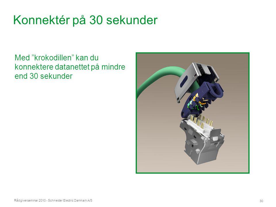 Konnektér på 30 sekunder Med krokodillen kan du konnektere datanettet på mindre end 30 sekunder