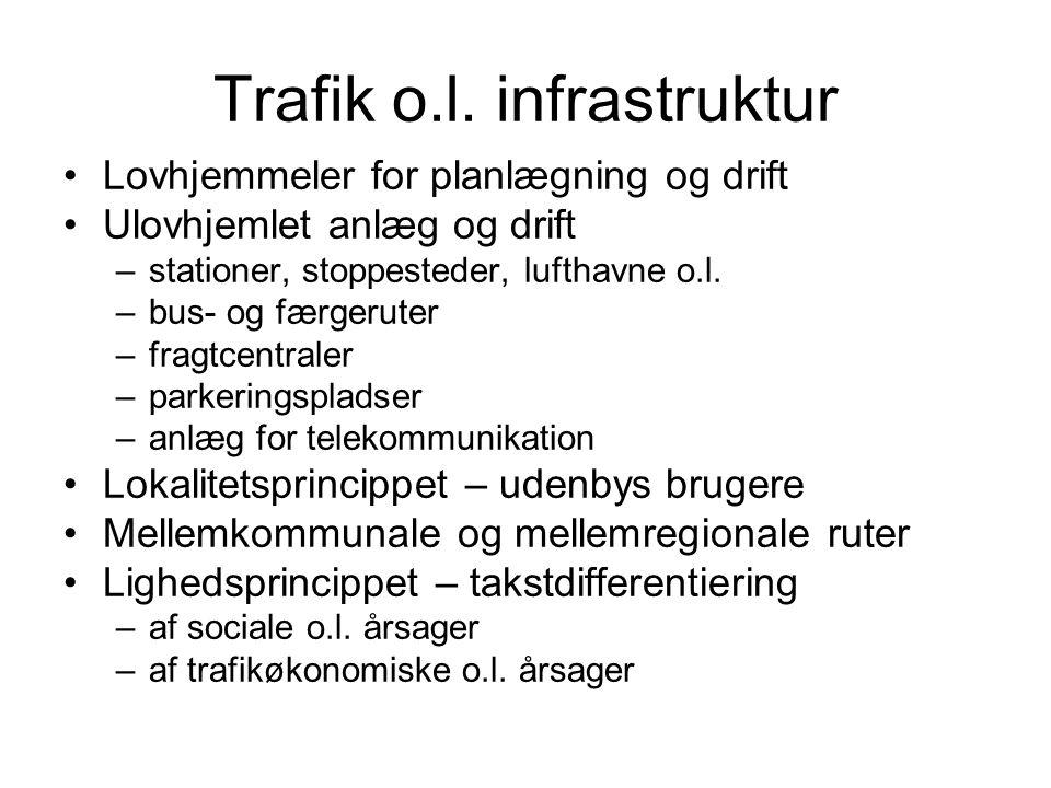 Trafik o.l. infrastruktur