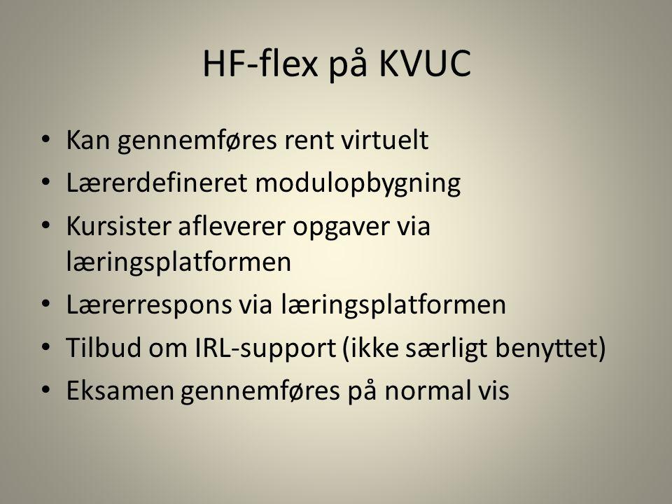 HF-flex på KVUC Kan gennemføres rent virtuelt