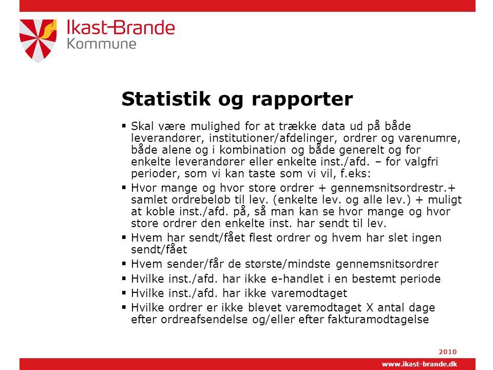 Statistik og rapporter