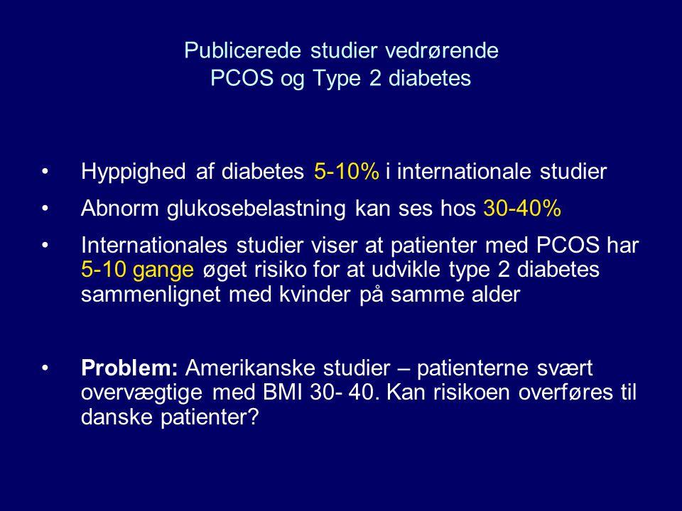 Publicerede studier vedrørende PCOS og Type 2 diabetes