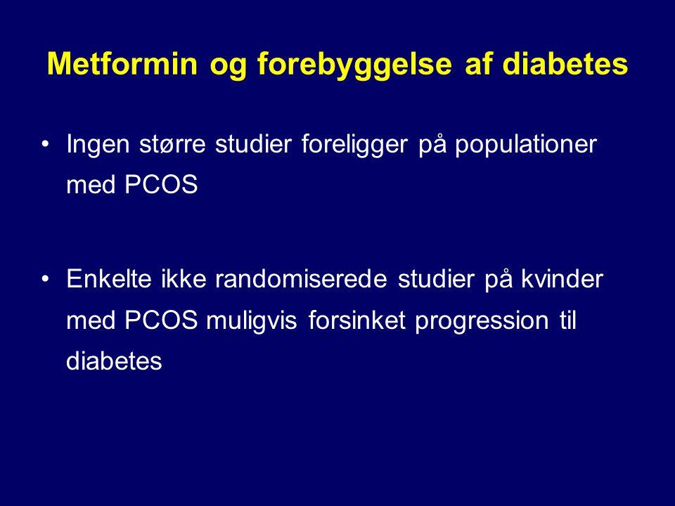 Metformin og forebyggelse af diabetes