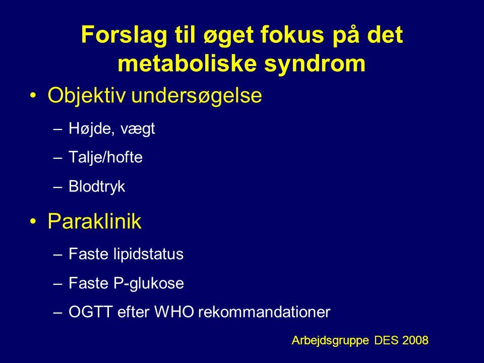 Forslag til øget fokus på det metaboliske syndrom