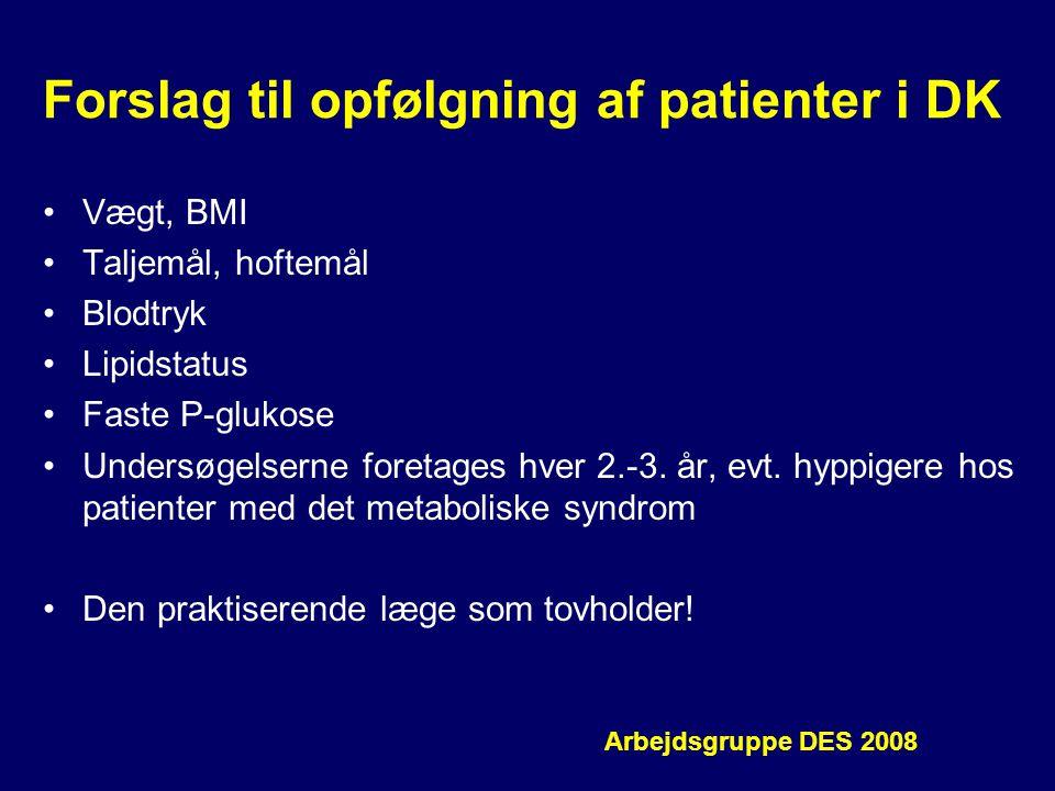 Forslag til opfølgning af patienter i DK