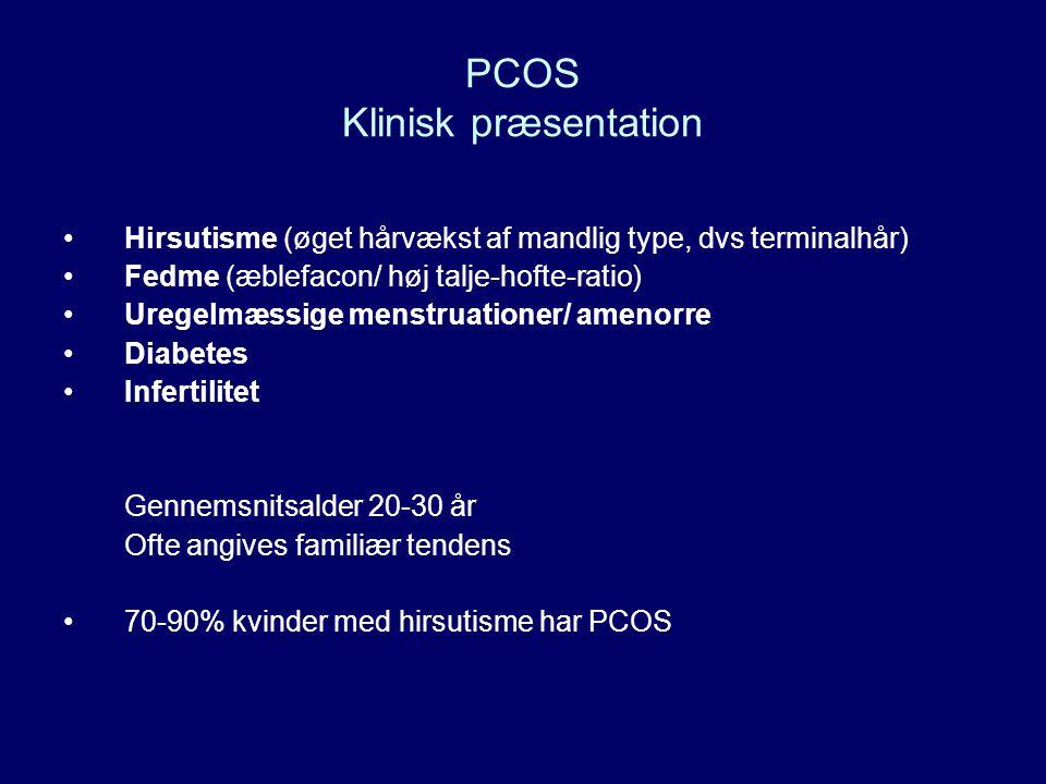 PCOS Klinisk præsentation