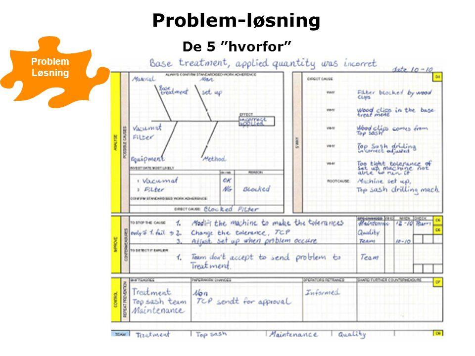 Problem-løsning De 5 hvorfor Problem Løsning