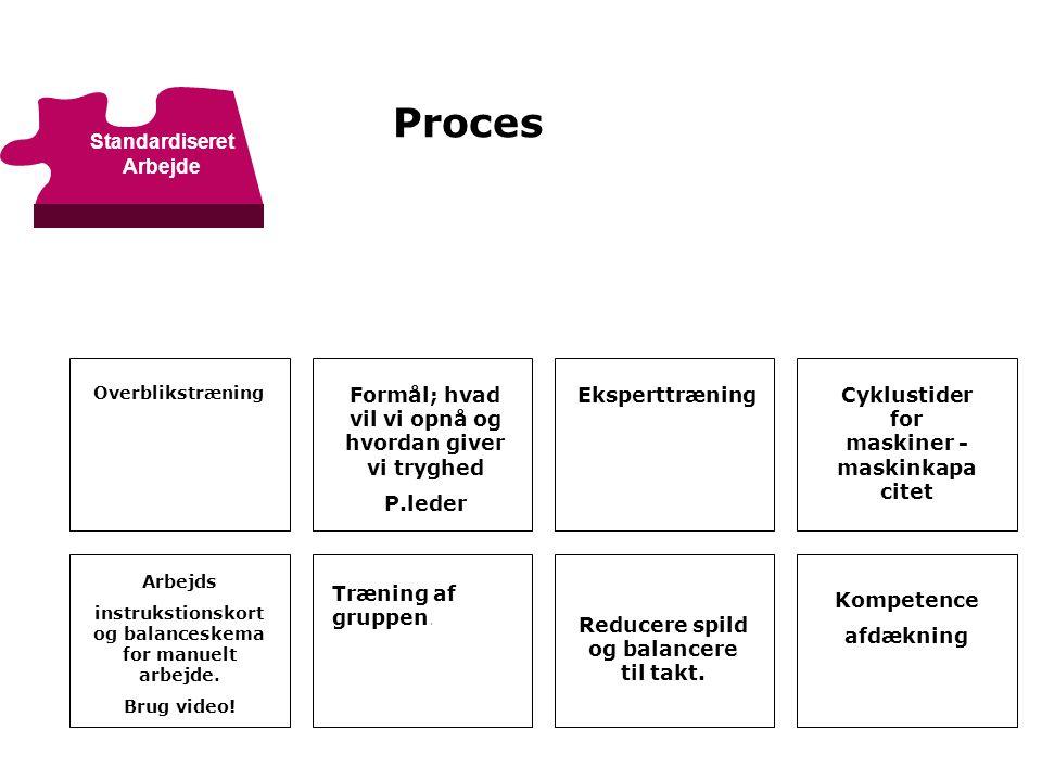 Proces Standardiseret Arbejde