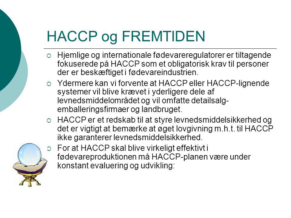 HACCP og FREMTIDEN