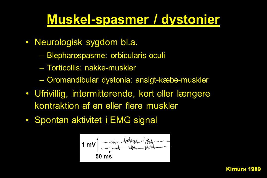 Muskel-spasmer / dystonier