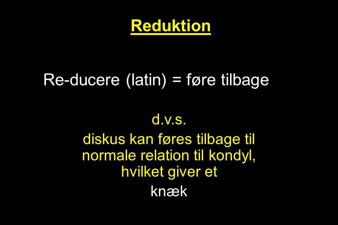 Re-ducere (latin) = føre tilbage