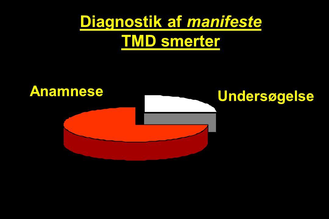 Diagnostik af manifeste TMD smerter