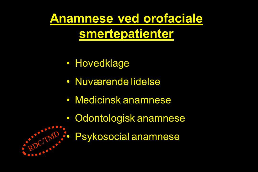 Anamnese ved orofaciale smertepatienter