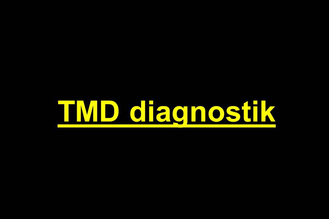TMD diagnostik