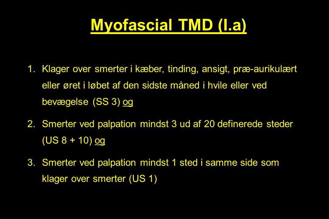 Myofascial TMD (I.a)
