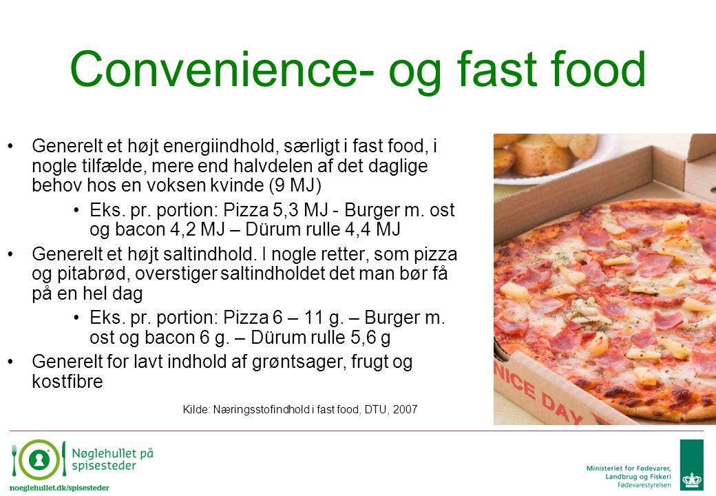 Convenience- og fast food