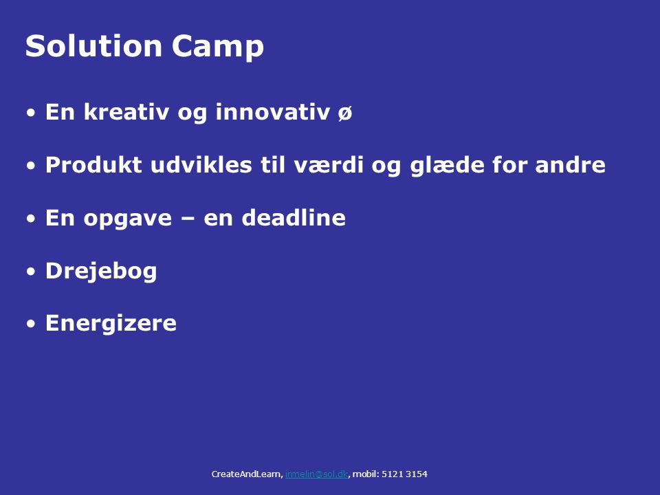 Solution Camp En kreativ og innovativ ø