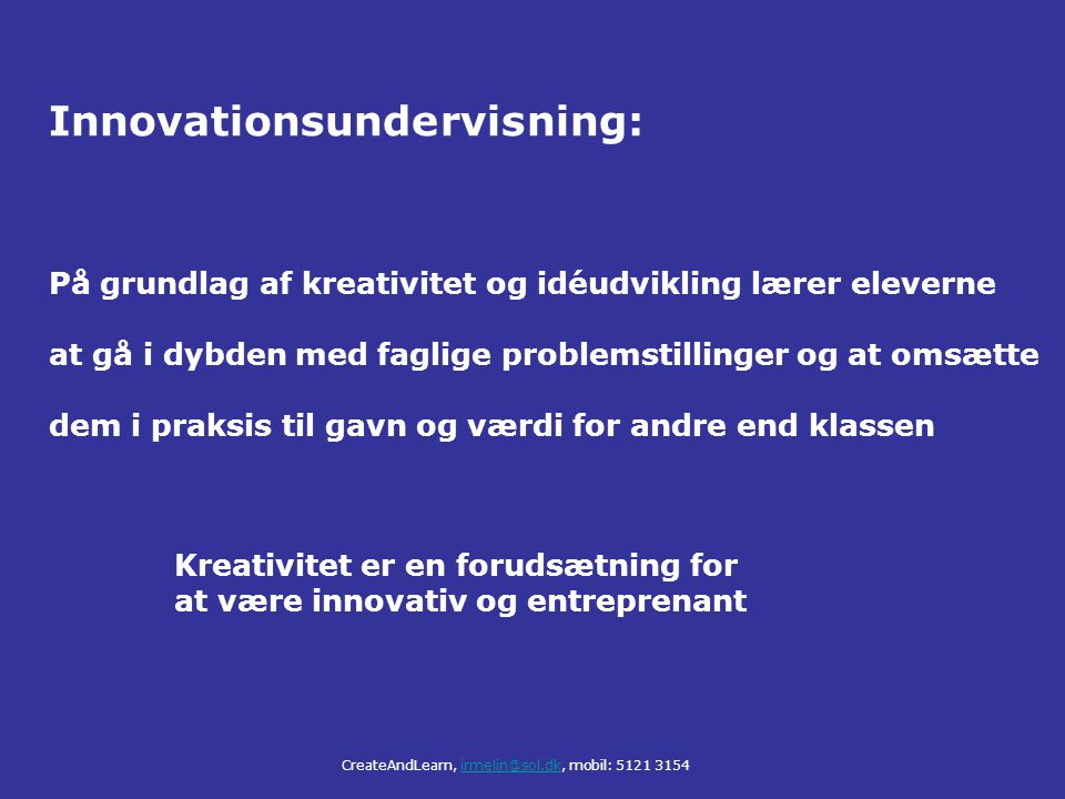 Innovationsundervisning: