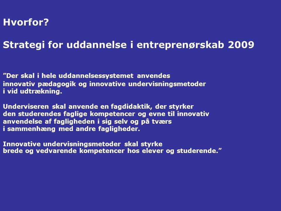 Strategi for uddannelse i entreprenørskab 2009