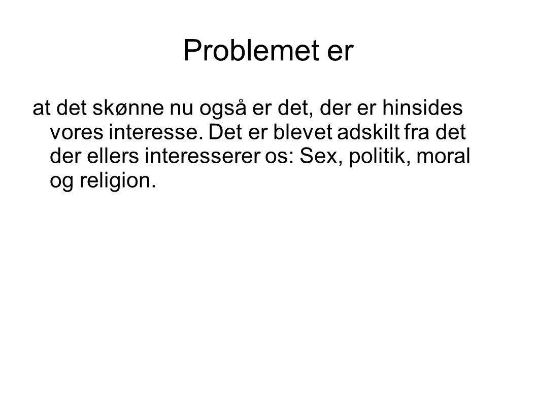 Problemet er