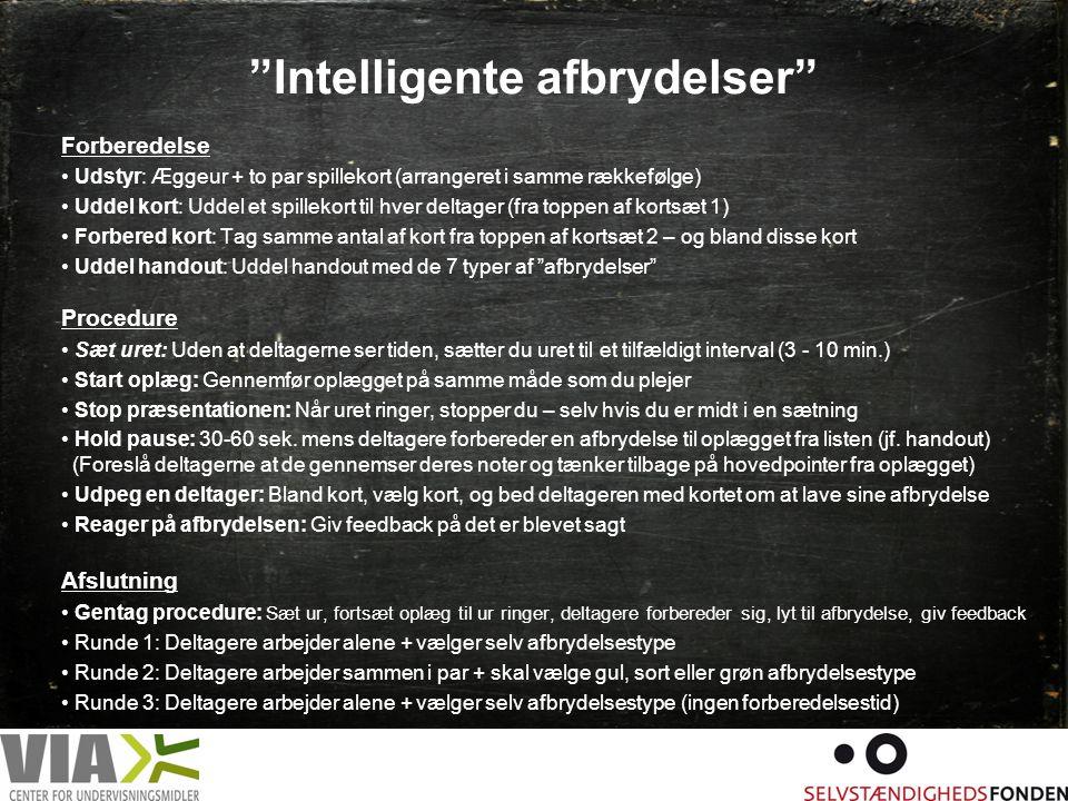 Intelligente afbrydelser