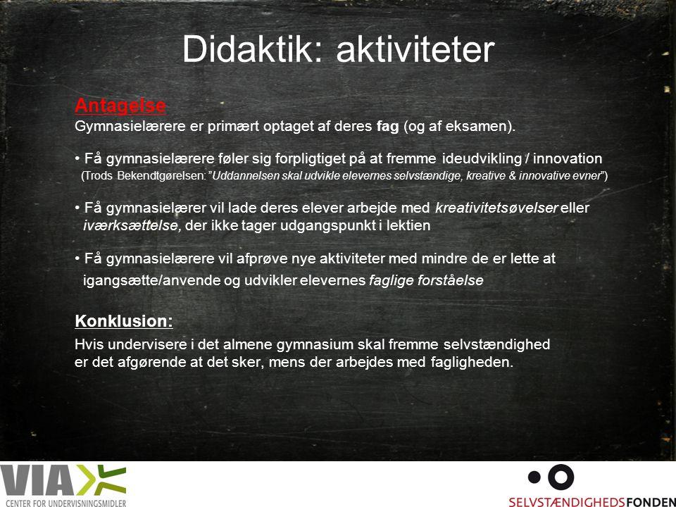 Didaktik: aktiviteter