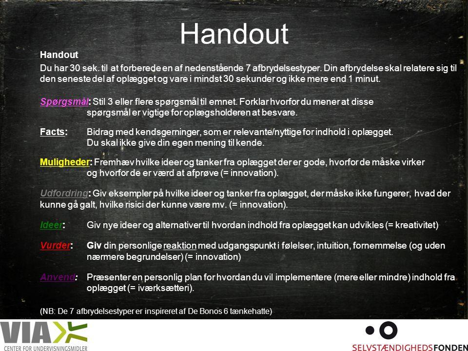 Handout Handout.
