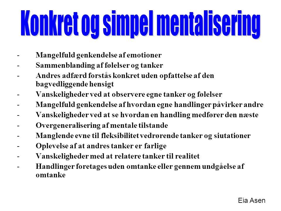 Konkret og simpel mentalisering