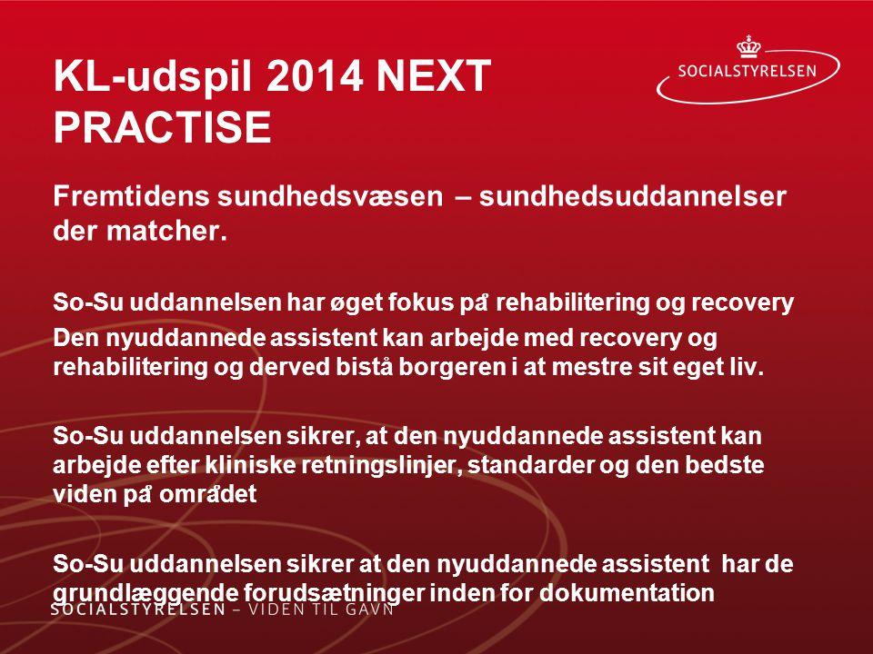 KL-udspil 2014 NEXT PRACTISE