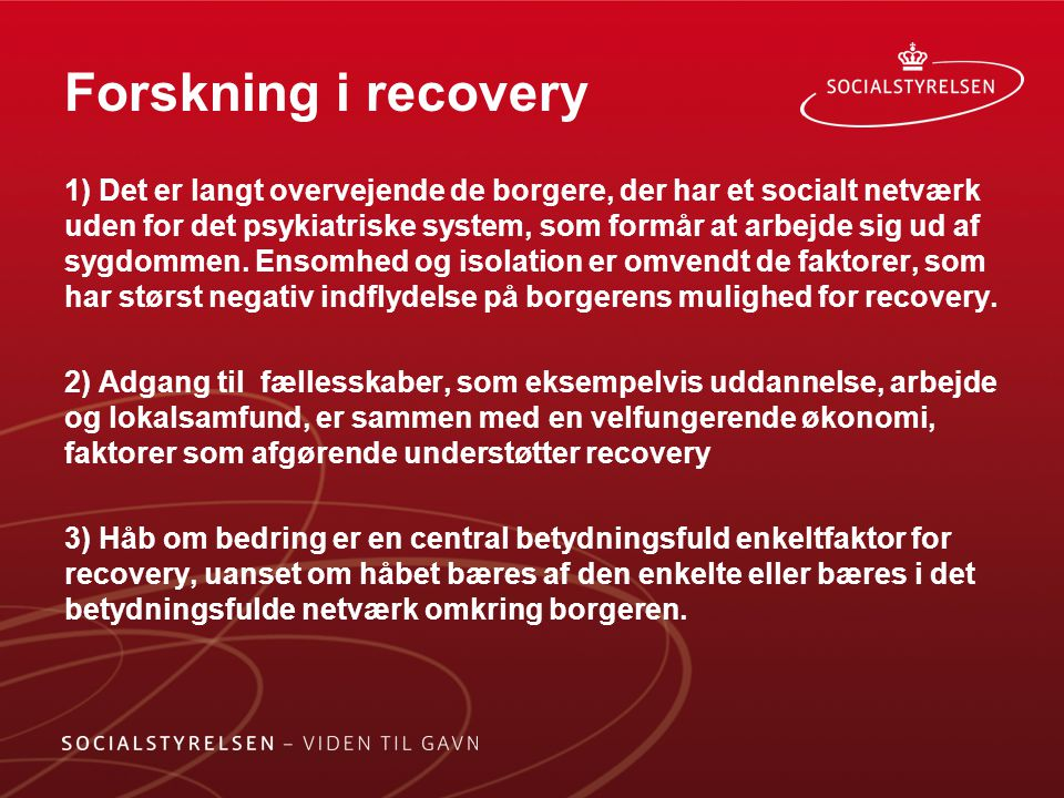 Forskning i recovery