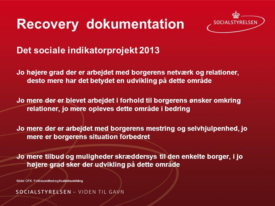 Recovery dokumentation