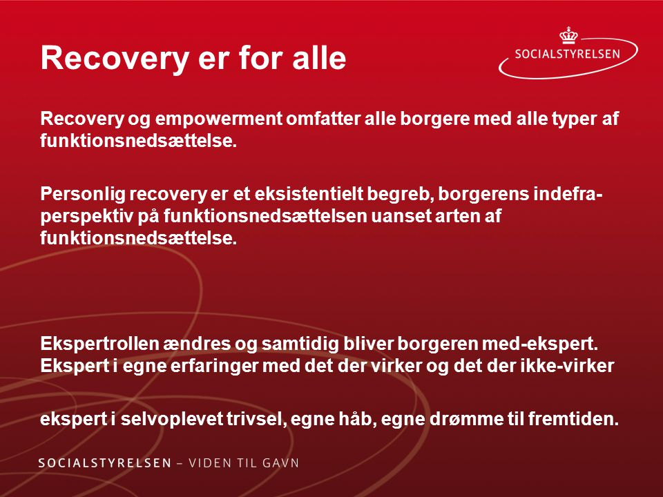 Recovery er for alle