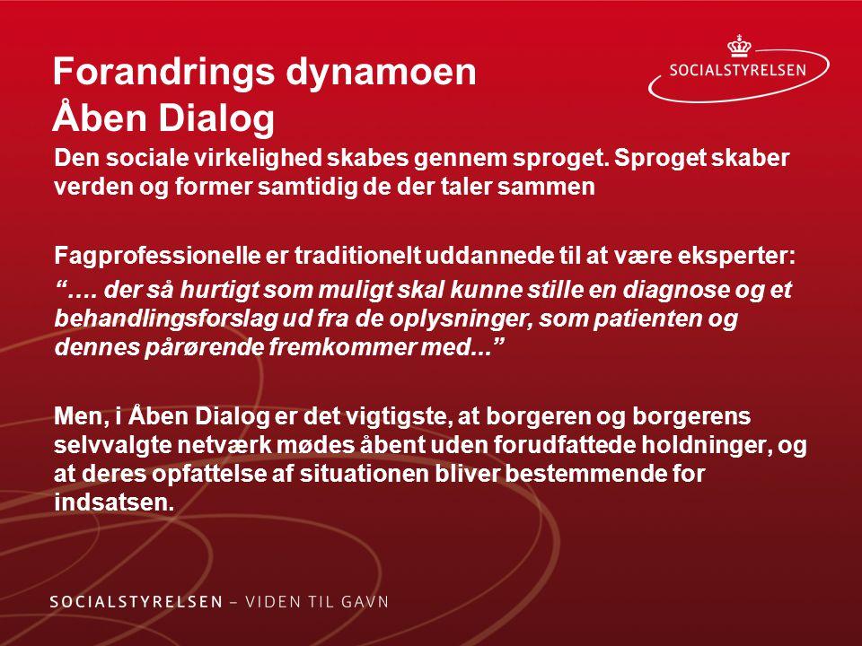 Forandrings dynamoen Åben Dialog